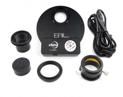 "ZWO EFW Mini - Roda de Filtros Motorizada 5 Posições - 1.25"""