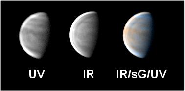planeta vênus em cores falsas