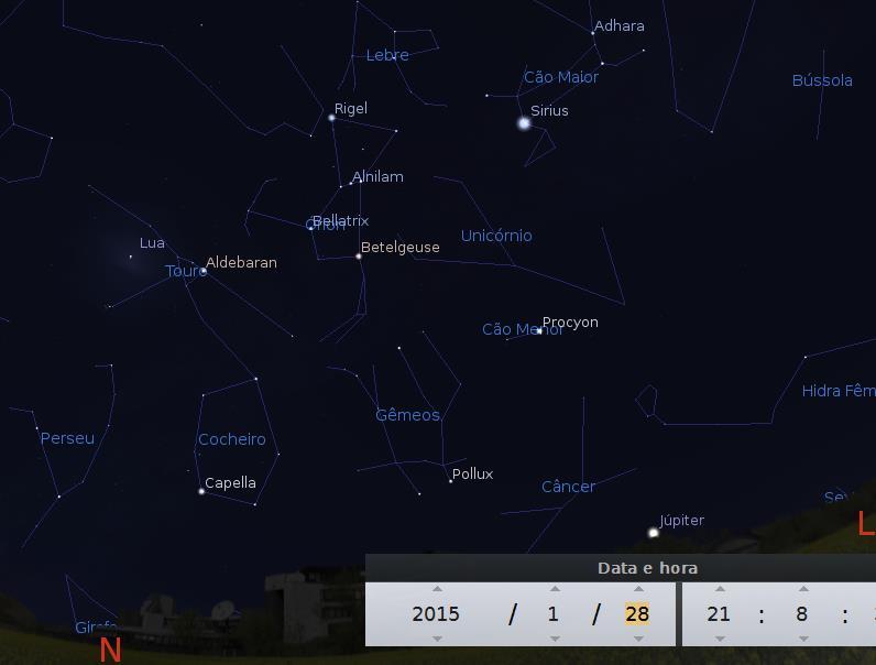 Lua entre aglomerados M45
