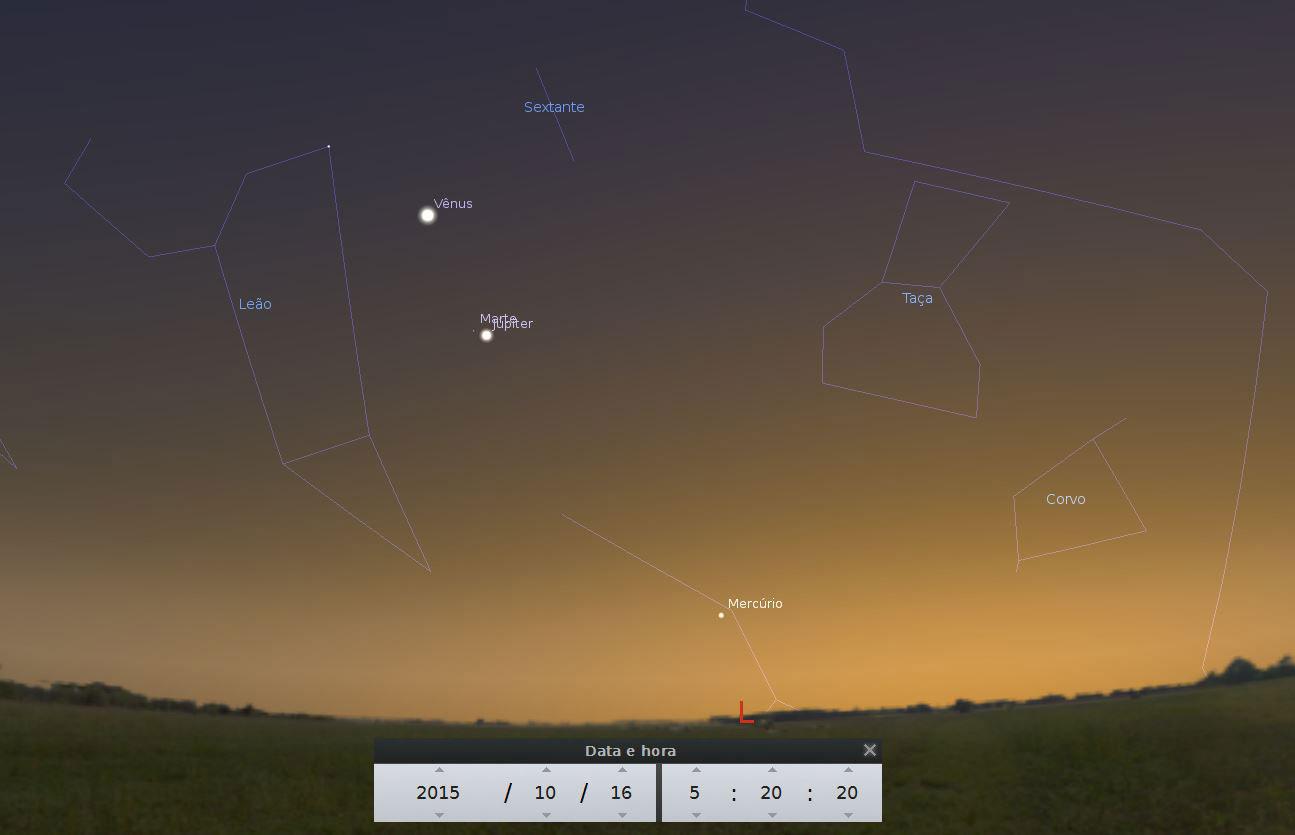 planeta mercúrio visível ao amanhecer