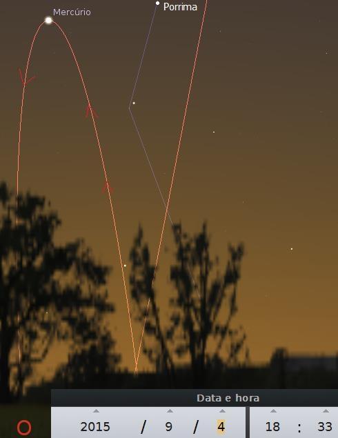 Planeta Mercúrio Visível
