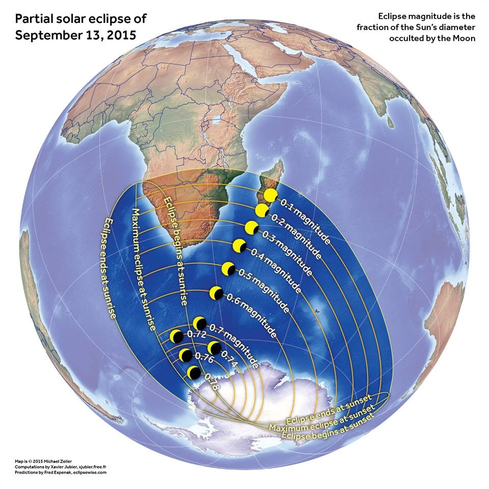 Mapa do Eclispe Solar.