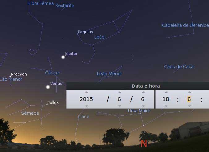 Planeta Vênus na maior elongação