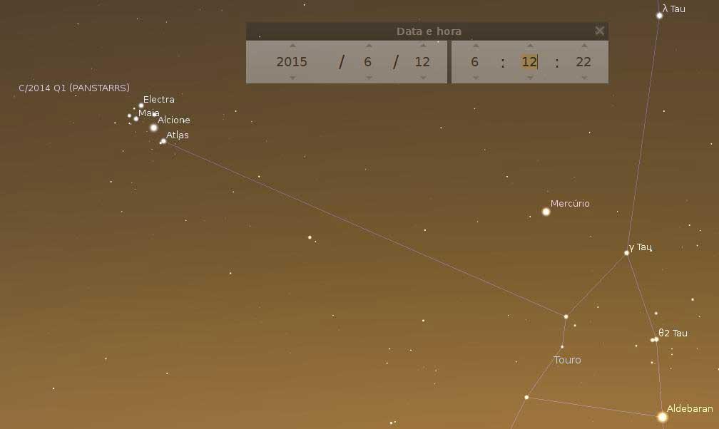 Vênus ao lado do aglomerado aberto m44